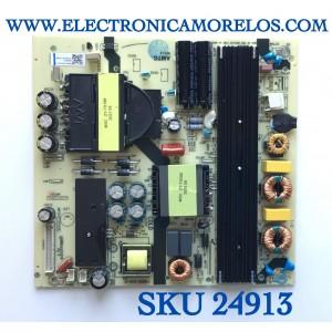 FUENTE DE PODER PARA TV ONN·ROKU TV 4K UHD SMART TV (65) / NUMERO DE PARTE TV6505-ZC02-01 / E021M455-A4 / TV6505-ZC02-01(1) / PANEL JR645R3HA7L / MODELO 100012587 / ((NOTA IMPORTANTE:CHECAR QUE EL PANEL Y MODELO CORRESPONDA CON SU TELEVISION...))