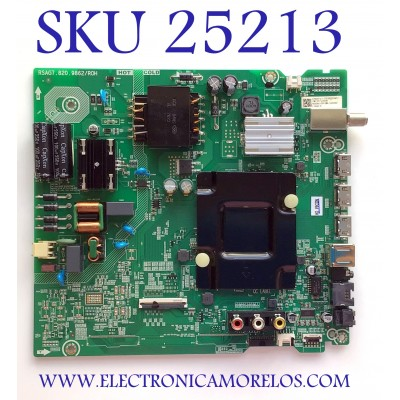 MAIN FUENTE PARA TV HISENSE NUMERO DE PARTE 270849 / RSAG7.820.9862/ROH / 3TE50G2026AT / ZMZ207J300R / HU50A6109FUWA / 265208 / K0602 / PANEL  HD500X1U91-L3/SQ/GM/ROH / MODELO 50H6570G
