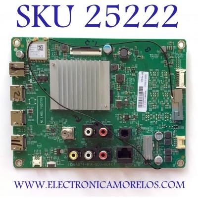 MAIN PARA SMART TV VIZIO 4K CON HDR RESOLUCION (3840 X2160) NUMERO DE PARTE 905TXKSA580 / 715GA874-M14-B00-004K / 87308133 / 905TXKSA58001100CX / PANEL TPT580B5-U1T01.D    REV:S01BG / MODELOS V55X-H1 / V55X-H1 LTCHB9AW