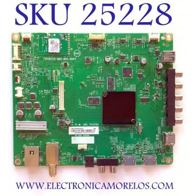 MAIN PARA SMART TV VIZIO FHD RESOLUCION (3840 x 2160) NUMERO DE PARTE  XICB02K023020X / 715G8320-M01-B01-004Y / (X)XICB02K023020X / BP RIBKKA4 / 4187416 / PANEL TPT430H3-HVN01.U / MODELOS D431-F1 / D431-F1  LTMWVNWU