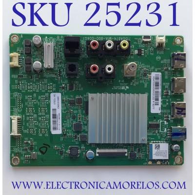 MAIN PARA SMART TV VIZIO 4K UHD CON HDR RESOLUCION (3840 x 2160) NUMERO DE PARTE XKCB02K045 / 715GA874-M14-B00-004G / 905TXKSA700 / (G) XKCB02K045010X / (G) XKCB02K045010X / 87403118 / PANEL TPV700B5-U2T01.D REV:S02L / MODELOS V705X-H1 / V705X-H1 LTCHC1AW