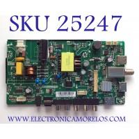 MAIN PARA SMART TV PHILIPS HD RESOLUCION (1366 x 768) NUMERO DE PARTE H18062009 / TP.MS3553.PA552 / HV236WHB-N00(A) / 3200507263 / 320045532111005 / PANEL'S BOEI236WX1 / HV236WHB-N00 / MODELO 24PFL3603/F7