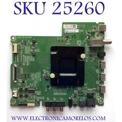 MAIN PARA TV HISENSE NUMERO DE PARTE 249123 / RSAG7.820.8593/ROH / 3TE65G2024QF / TM20AV52K3 / HU65A6180UWR(1001)/1498 / G2024Q3 / PANEL HD650S1U71-K1/S0/6M/ROH / MODELO 65R6E1