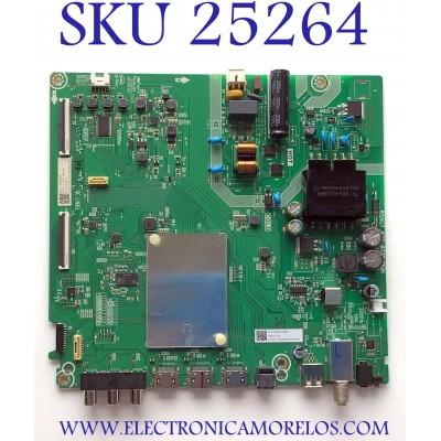 MAIN FUENTE PARA TV HISENSE NUMERO DE PARTE 274421 / RSAG7.820.9720/ROH / 1224 / 3TE43G2023J0 / XT207L0857 / PANEL JHD42SV1F51-T0L1/GM/MCKD-3A/ROH / MODELO 43H4030F1