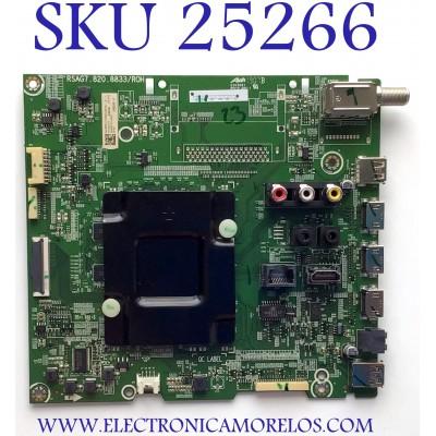 MAIN PARA TV HISENSE 244186 / RSAG7.820.8833/ROH / 3TE55G1851B4 / TM19444137 / G185195 / 244187 / J0303 / PANEL HD550V3U5I-TAL3SQ/EJ/GM/ROH / MODELO 55A6501EU