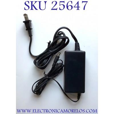 ADAPTADOR ROHS NUMERO DE PARTE G32DD-120267-A / 100-120V~1.0A 60HZ / 12V 2.67A / E255633 / MODELO G32DD-120267-A