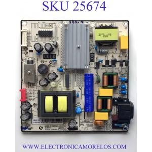 FUENTE DE PODER PARA TV RCA·ROKU TV ULTRA HD HDR SMART TV / NUMERO DE PARTE 81-PBE055-H4C63AP / SHG6004C-101H / SHG6004C63-101HA / 20190909 / DLBB513 / CQC14134104969 / CCP-508 / E56334 / PANEL LVU500CHDX / MODELO RTRU5027-D-US