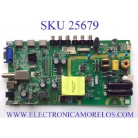 MAIN FUENTE (COMBO) PARA TV JVC·ROKU TV SMART TV / NUMERO DE PARTE MS36637-ZC01-01 / 20201122 / 1010454464 / 1010454464-00460 / M19/2010075668/18 / E022M324-F1 / E168066 / PANEL V400HJ9-PE1 / MODELO LT-40MAW300