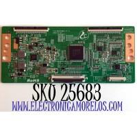 T-CON PARA TV SCEPTRE / NUMERO DE PARTE HK9255B2A / HK9255B2A-V1.0 / M81N550BDKP084 / PANEL PT550GT01-01 / MODELOS N55 / N55 KQTV83BB