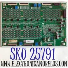 LED DRIVER PARA TV SAMSUNG QLED 8K UHD HDR SMART TV / NUMERO DE PARTE BN44-01047D / BN4401047D / L75SQ9ND_THS / PANEL CY-TT075JLAV6H / MODELO QN75Q900 / QN75Q900TSFXZA / QN75Q900TSFXZA AD04