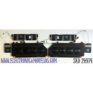 KIT COMPLETO DE BOCINAS (6 PIEZAS) PARA TV SAMSUNG QLED NEO 8K SMART TV / BN96-53040B / 65Q900A / 800A / BN63-19456A001 / BN63-19455A001 / MODELOS QN75QN800 / QN75QN800AFXZA / QN75QN800AFXZA CA01 / QN85QN800 / QN85QN800AFXZA / QN85QN800AFXZA AA01