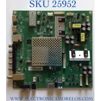 MAIN PARA TV VIZIO NUMERO DE PARTE XFCB02K028 / 715G7126-M01-001-004T / (X)XFCB02K028040X / PANEL TPT500J1-HVN07.U REV:S600E / MODELO E50-C1