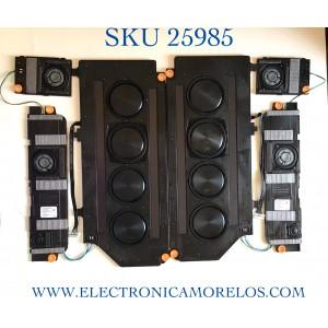 KIT COMPLETO DE BOCINAS (6 PIEZAS) PARA TV SAMSUNG NUMERO DE PARTE BN96-53040A / Q800A / BN9653040A / EF-3402 / VI1131 / CY-TA065JMAV1H / MODELO QN65QN800AFXZA AB02