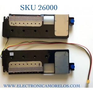 KIT DE BOCINAS (2 PIEZAS) PARA TV SAMSUNG NUMERO DE PARTE BN96-50552A / BN63-18632X / BN63-18629X / BN96-50552A / 50552A / PANEL CY-TT055FMAV4H / MODELO QN55Q80TAFXZA AC02 / QN55Q80TAF