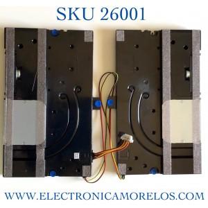 KIT DE BOCINAS (2 PIEZAS) PARA TV SAMSUNG NUMERO DE PARTE BN96-50550A / BN63-18622X  / BN63-18621X / BN9650550A / 50550A / PANEL CY-TT055FMAV4H / MODELO QN55Q80TAFXZA AC02 / QN55Q80TAF