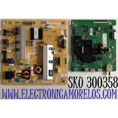 KIT DE TARJETAS PARA TV SAMSUNG 4K SMART TV / NUMERO DE PARTE MAIN BN94-15734B / BN41-02756C / FUENTE BN44-01058A / BN4401058A / PANEL CY-RT055HGHV4H / MODELO QN55Q60 / QN55Q60TAFXZA CD02