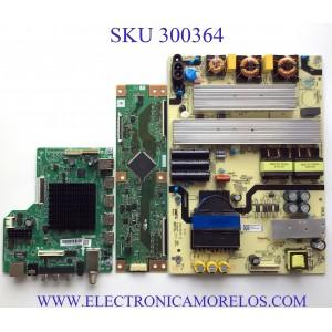 KIT DE TARJETAS PARA TV ONN·ROKU TV SMART TV (70) / NUMERO DE PARTE MAIN 515Y18010M02 / T.MS1801.81 / 536D7006PU1A / FUENTE TV7001-ZC02-01 / E021M425-J3 / 20201028 / T-CON RUNTK6396TPZC / RUNTK6396TP / RUNTK0418FV / PANEL JE695R3HB9L / MODELO 100012588