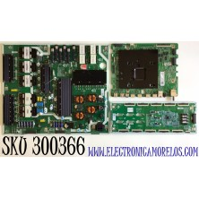 KIT PARA TV SAMSUNG QLED 4K SMART TV / NUMERO DE PARTE MAIN BN94-15362L / BN41-02749A / BN97-16919D / FUENTE BN44-01034A / BN4401034A / L65S9NA_TSM / LED DRIVER BN44-01037A / BN4401037A / L65S9NC_TSM / PANEL CY-TT065FLLV5H / MODELO QN65Q90TAFXZA FB03