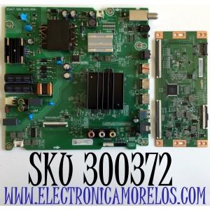 KIT DE TARJETAS PARA TV HISENSE·ROKU TV 4K SMART TV / NUMERO DE PARTE MAIN 263340 / RSAG7.820.9221/ROH / HU58A6109FUWR / 263341 / T-CON CV580U1-T01-CB-1 / E3CCBB5800010 / E88441 / PANEL HD580X1U91-L1/S0/CKD3A/ROH/1 / MODELO 58R6E3 / 58R6E3 58A6109FUWR