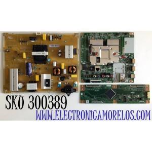 KIT DE TARJETAS PARA TV LG SMART TV / NUMERO DE PARTE MAIN EBT66487302 / EAX69083603 / FUENTE EAY65589001 / EAX68942901 / LGP60T-19U1 / T-CON RUNTK6396TPZA / 1P-118BC00-4010 / RUNTK0418FV / PANEL NC600DQE-VSHP7 / MODELO 60UN7000PUB / 60UN7000PUB.BUSMLKR