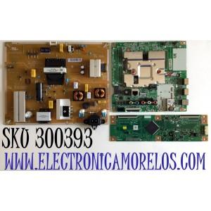 KIT DE TARJETAS PARA TV LG SMART TV / MAIN EBT66487302 / EAX69083603 / EAX69083603(1.0) / FUENTE EAY65589001 / 65589001 / LGP60T-19U1 / EAX68942901 / T-CON RUNTK0334FVYL / 1P-0171X00-40SB / PANEL NC600DQE-VSHP1 / MODELO 60UN7000PUB / 60UN7000PUB.BUSMLKR