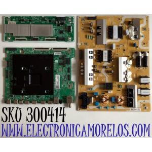 KIT DE TARJETAS PARA TV SAMSUNG QLED 4K UHD SMART TV / MAIN BN94-14259B / BN41-02695A / BN97-15737A / DRIVER BN44-00978D / BN4400978D / L65S7ND_RHS / FUENTE BN44-00982A / BN4400982A / L65S7NA_RHS / PANEL CY-TR065FLLVAH / MODELO QN65Q / QN65Q70RAFXZA FC02