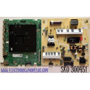 KIT DE TARJETAS PARA TV SAMSUNG MAIN BN94-15822D / BN41-02749A / BN97-18104A / FUENTE BN44-01062A / L55E8_TSM / BN4401062A/ PANEL CY-RT055FGAV4H / MODELO QN55Q7DTAFXZA AB04