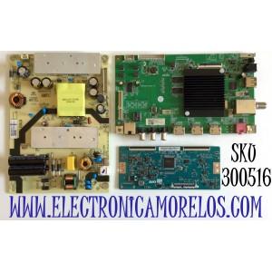 KIT DE TARJETAS PARA ONN·ROKU TV (43) / MAIN MS16010-ZC01-01 / 2E01413C0 / T-CON 55.43T10.C02 / 5543T10C02 / 55T32-C0F / FUENTE TV3903-ZC02-01 / E021M413-G2 / E021M413-E3 / E021M487-A2 / E021M413-F1 / E021M413-E4 / PANEL LC430EGQ-SMM3 / MODELO 100012584