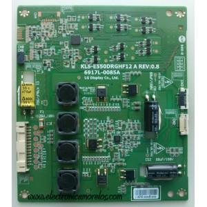 LED DRIVER / VIZIO 6917L-0085A / KLS-E550DRGHF12A / 085A / PANEL LC550EUD (SE)(F3) / MODELOS TC-L55ET5 / M3D550KD / M3D550KD LTYPMLEN