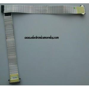 CABLE LVDS / SAMSUNG BN96-07578X / E221612 105C / 080810A01-N / MODELO LN40A630M1FXZA