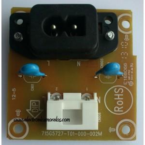CONECTOR DE POWER / VIZIO 715G5727-T01-000-002M / E168066 / MODELO E291-A1 LTTMNVBP