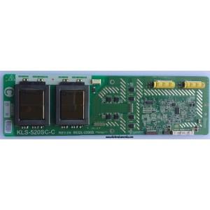 BACKLIGHT INVERSOR / VIZIO 6632L-0396B / 1396B / KLS-520SC-C / MODELO GV52LFHDTV10A