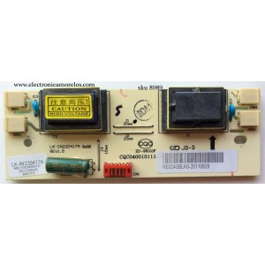 BACKLIGHT INVERSOR / RCA LK-IN220417A / CQC040010111 / CQC04001011196 / CQC08001026140 / RE024SBLK6 / RE024SBLK2 / MODELO 22LA45RQD