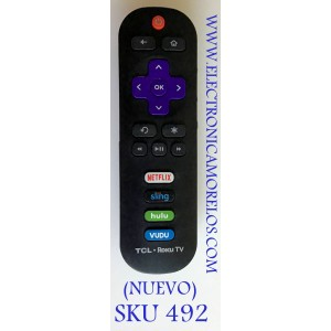 CONTROL REMOTO SMART TV TCL ROKU / JH-14170