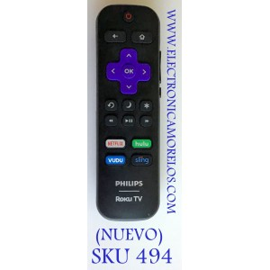 CONTROL REMOTO SMART TV PHILIPS ROKU / 101018E0025 / RC18E-T4 / CYD20181225