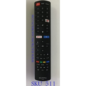 CONTROL REMOTO OLIMPO SMART TV / 06-531W52-TY02X / RC311S / DH1712122229