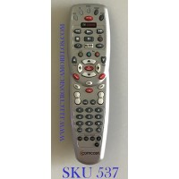 CONTROL REMOTO UNIVERSAL AUX TV CABLE  COMCAST / ON DEMAND   My DVR / 1067BC3-0001-R / C073102