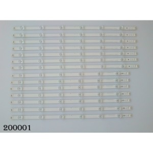"KIT DE LED PARA TV (14 PIEZAS) / LG / LG INNOTEK POLA2.0 55"" R TYPE REV 0.1 / PANEL NC550DUN / MODELO 55LN5100-UB"
