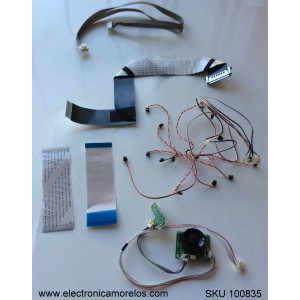 KIT DE CABLES PARA TV / TCL / KB-6150 / 40-48S460-IRC2LG / MODELO 48FS4690