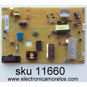 FUENTE DE PODER / JVC 0500-0605-0710 / FSP095-1PSZ02 / 3BS0382112GP / MODELO EM40NF5 / PANEL V400HJ6-PE1 REV.C1