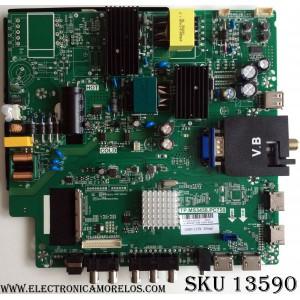 MAIN / FUENTE / (COMBO) / SCEPTRE A16100515 / TP.MS3458.PC758 / MODELO U40 SDIV58CB / PANEL LSC400FN07