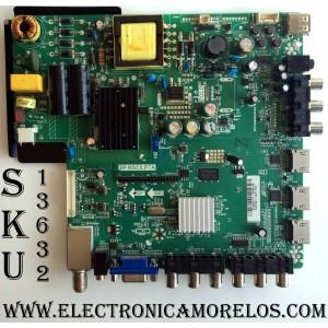 MAIN / FUENTE / (COMBO) / SCEPTRE A13092777 / TP.RSC8.P7A / MODELO X32 X325BV-FMDR / PANEL T320HVN01.2