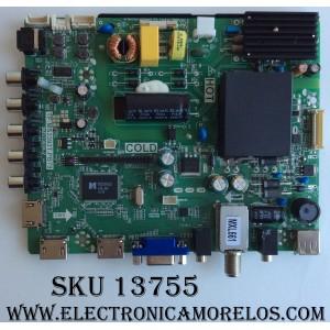MAIN  FUENTE (COMBO)  SANYO / 02-SHS39B-C008000 / TP.MS3393T.PB79 / 3MS3393X-2 / PANEL LVF320LGDX E1 V1 / MODELO FW32D25T