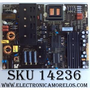 FUENTE DE PODER / SCEPTRE AY216D-4SF29/ 3BS00672 REV:1.0 / MODELO V65 SPTV589DA / PANEL LSC650FJ11-W02