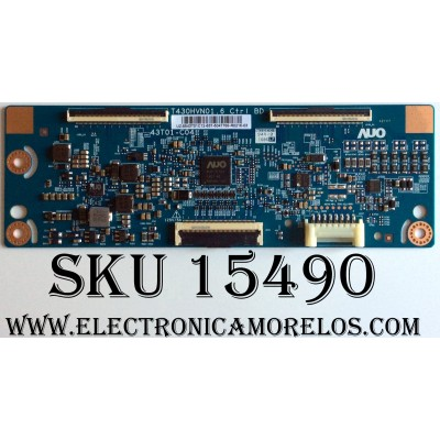 T-CON / SAMSUNG 55.43T01.C12 / T430HVN01.6  / 43T01-C04 / 5543T01C12 / PANEL CY-JJ043BGAB1V BB01 / MODELOUN43J5200AFXZA BD06