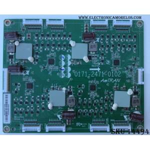 LED DRIVER / VIZIO 3655-0062-0111 / 0171-2471-0102 / P211821B_07 / PANEL LC550DUH-SCM1 / MODELO M55-D0 LAUSTZBS
