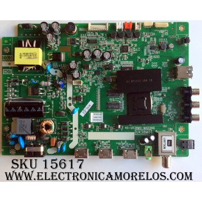 FUENTE / MAIN / (COMBO) / TCL V8-UX38001-LF1V024(J5) / GTC000130A / 40-UX38M0-MAD2HG / UX38M0
