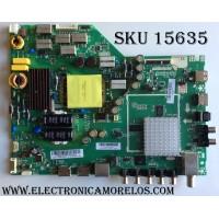 MAIN / FUENTE / (COMBO) / VIZIO A16010138  / 75500W01A009 /TP.MT5580.PB75 / PANEL TP.MT5580.PB75 / MODELO  D43N-E1 LTT7VNBT