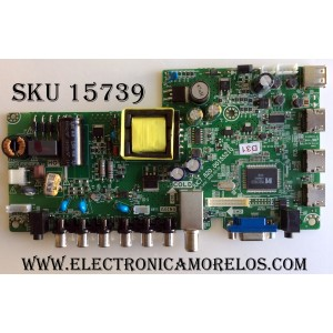 MAIN FUENTE (COMBO) RCA / 999D6K / 32G850143339-A1 / JUC7.820.00155210 / HLS43C / MODELO LED32E30RH 6901-LE32E30-A1