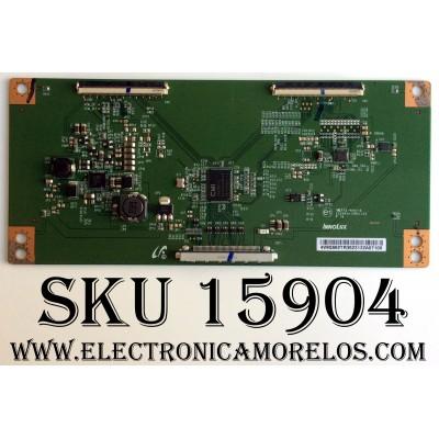 T-CON LG / 4V9Q662TR35 / E22203415051102 / MODELO 50LF6100-UA BUSJLJR / PANEL NC500DUN